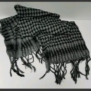 Light Weight Printed Scarf -  Black and Grey